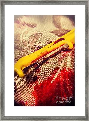 Mrs Skinner. The Killer Housewife Framed Print