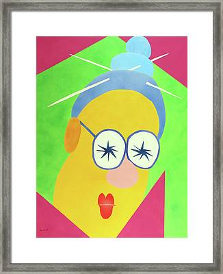 Framed Print featuring the painting Mrs. Strangefellow by Thomas Blood