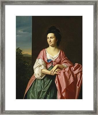 Mrs. Sylvester Gardiner Framed Print by John Singleton Copley