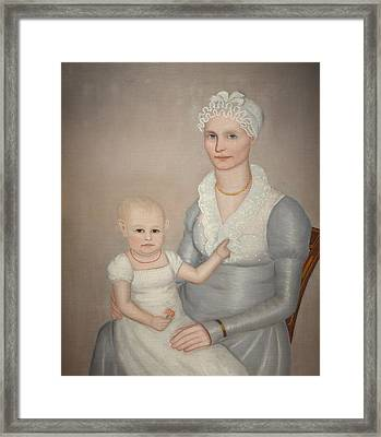Mrs Wilbur Sherman And Daughter Sara Framed Print