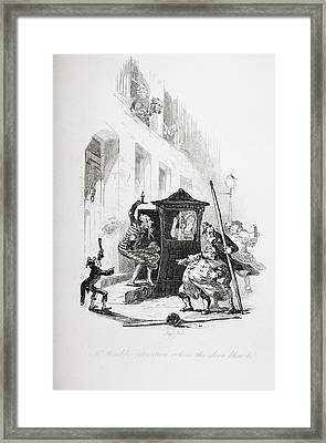 Mr.winkles Situation When The Door Blew Framed Print by Vintage Design Pics