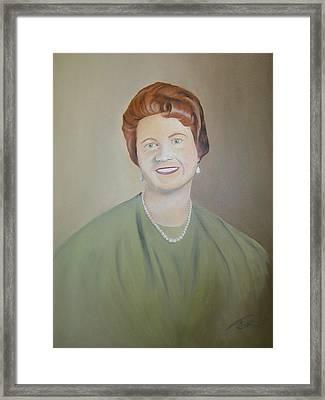 Ms. Bryant Framed Print