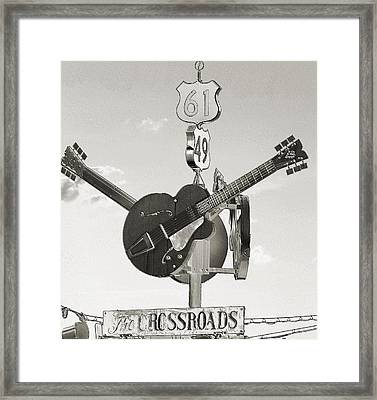 Ms Crossroads Framed Print