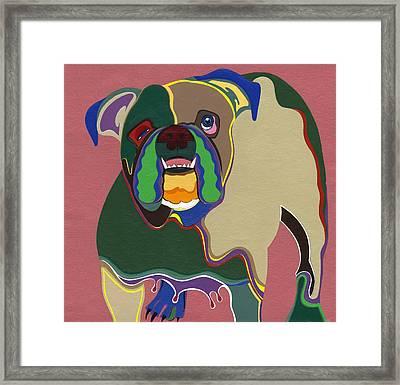 Ms Diva The English Bulldog Framed Print