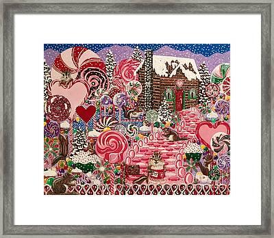 Ms. Elizabeth Peppermint World Framed Print