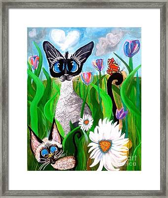 Ms Lily Momma Bonnie The Butterfly Framed Print by Mary Sisson