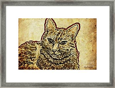 Ms Lotte Cat Framed Print by Art by MyChicC