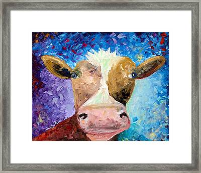Ms. Moo Framed Print by Jessilyn Park