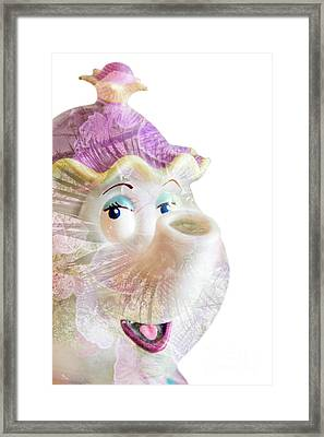 Ms Nosey Tea Framed Print by Pamela Williams