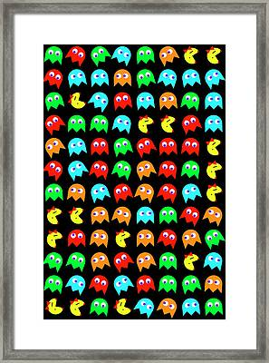 Ms Pacman Panel Framed Print