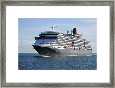 Framed Print featuring the photograph Ms Queen Victoria Approaching by Bradford Martin
