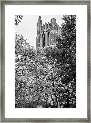 Msu Beaumont Tower Black And White 3 Framed Print