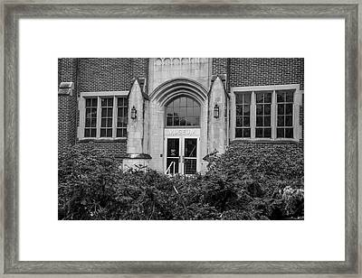 Msu Museum Black And White  Framed Print