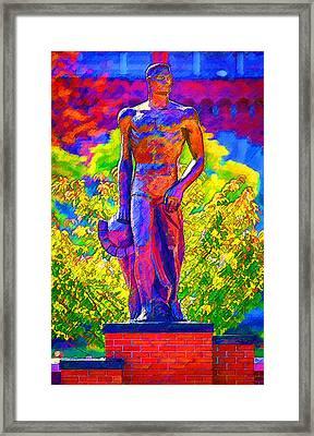 Msu Sparty Framed Print