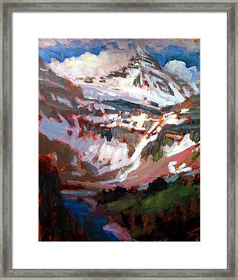 Mt. Assiniboine Framed Print by Brian Simons