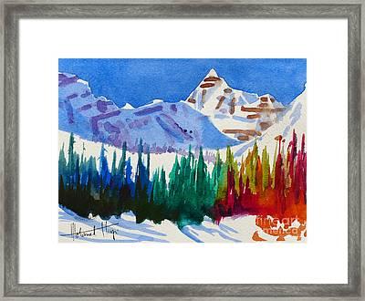 Mt. Athabasca, Jasper Framed Print