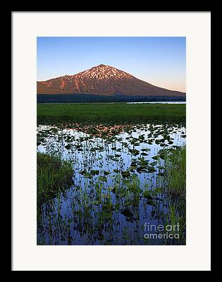 Mt Bachelor Framed Prints