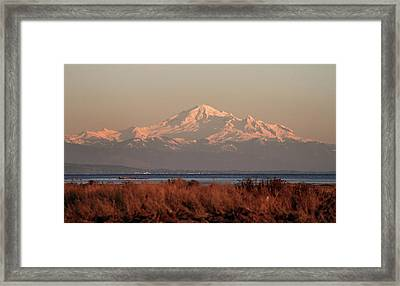 Mt Baker At Sunset Framed Print
