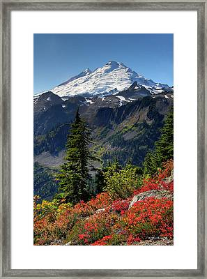 Mt. Baker Autumn Framed Print by Winston Rockwell
