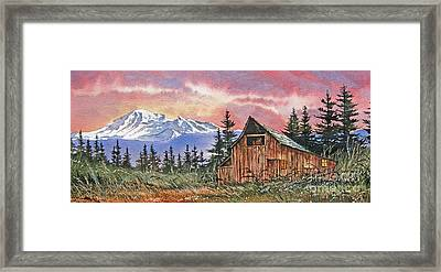Mt. Baker Dawn Framed Print by James Williamson