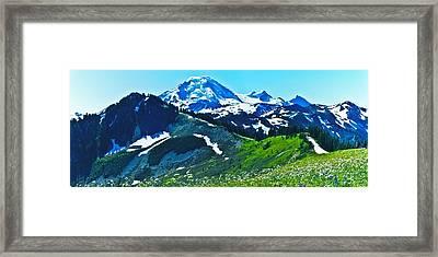 Mt Baker From The Skyline Ridge Trail Framed Print