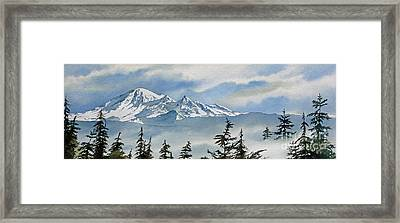 Mt. Baker Mist Framed Print by James Williamson