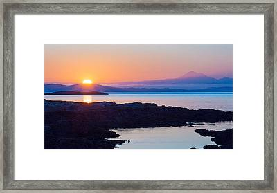 Mt. Baker Sunrise Framed Print