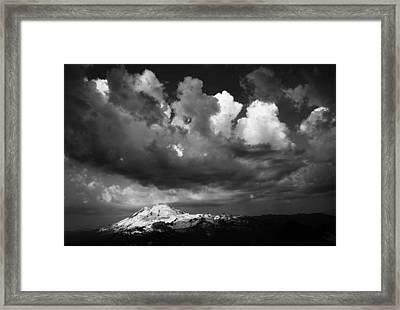 Mt. Baker Thunderstorm. Framed Print by Alasdair Turner