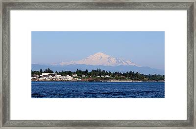 Framed Print featuring the photograph Mt. Baker - View From The Water by Christy Pooschke