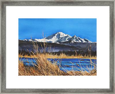 Mt Baker Wiser Lake Framed Print by James Williamson