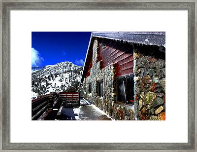 Mt. Baldy - Frozen Framed Print