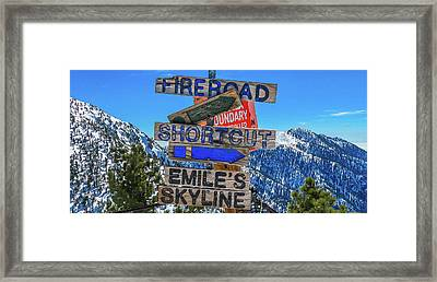 Mt. Baldy Mountain Sign Framed Print