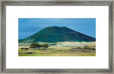 Mt. Capulin In Summer Framed Print