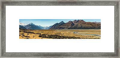 Framed Print featuring the photograph Mt Cook And Tasman River  by Gary Eason