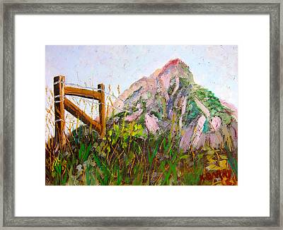 Mt. Crested Butte And Fence Framed Print