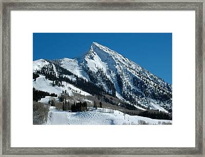 Mt Crested Butte Framed Print by Teresa Blanton