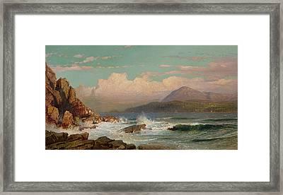 Mt Desert   Maine Framed Print by William Trost Richards