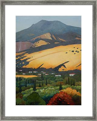 Framed Print featuring the painting Mt. Diablo Above by Gary Coleman