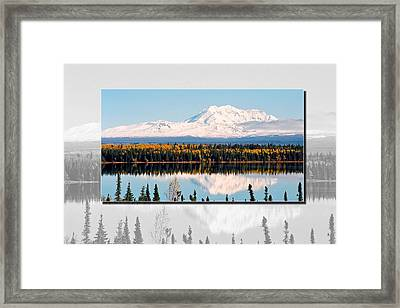 Mt. Drum - Alaska Framed Print by Juergen Weiss