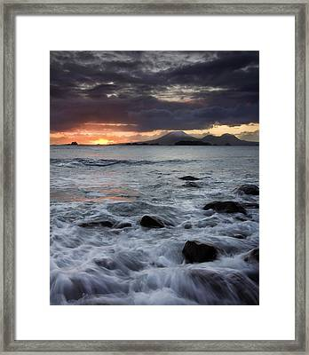 Mt. Edgecumbe Sunset Framed Print