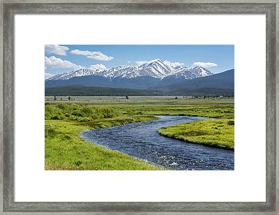 Mt. Elbert - Spring Framed Print