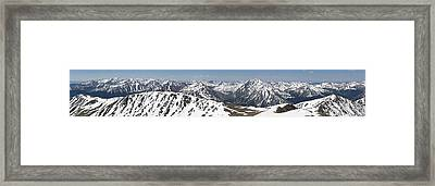 Mt. Elbert Summit Panorama Framed Print by Aaron Spong