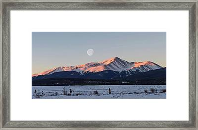 Framed Print featuring the photograph Mt. Elbert Sunrise by Aaron Spong