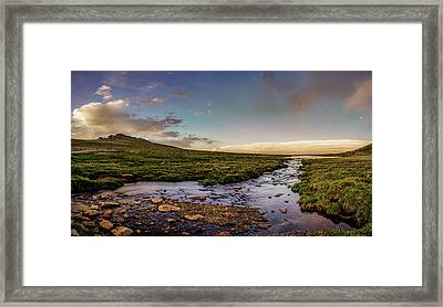 Framed Print featuring the photograph Mt. Evans Alpine Stream by Chris Bordeleau