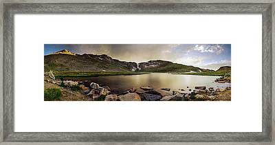 Framed Print featuring the photograph Mt. Evans Summit Lake by Chris Bordeleau