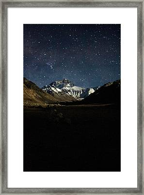 Mt Everest At Night Framed Print