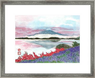 Mt. Fuji Morning Framed Print