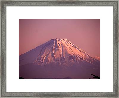 Mt. Fuji, Yamanashi,japan Framed Print