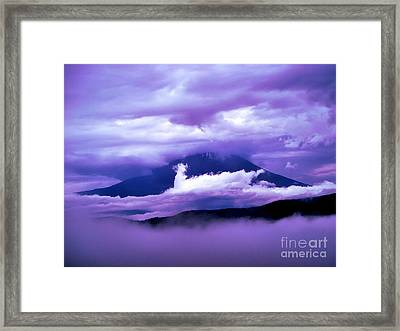 Mt Fuji Framed Print by Yvonne Johnstone