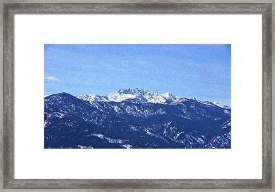 Mt Gardner Spring Snow Landscape Photography By Omashte Framed Print by Omaste Witkowski
